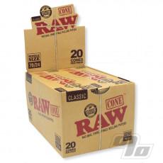 RAW Single 70/24 Cones 20 Pack