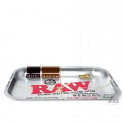 RAW Metallic Silver Rolling Tray Small