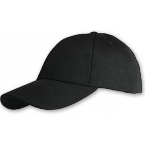 Hemp/Organic Cotton Baseball Cap - Structured Black