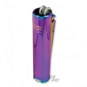 Clipper Lighter All Metal Icy Rainbow