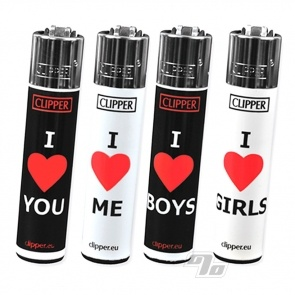 Clipper Lighters I Heart Pride