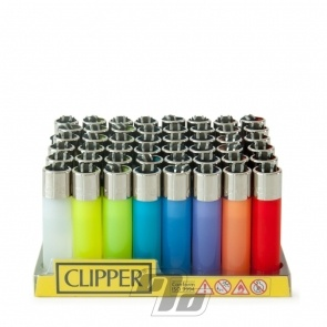 Clipper Lighter Mini Translucent colors in full Tray of 48 lighters