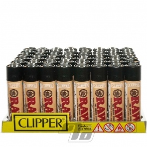Clipper Lighters RAW papers wholesale tray of 48 lighters