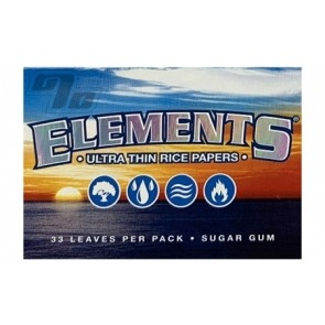 Elements Rice Rolling Papers in 1 1/2 size