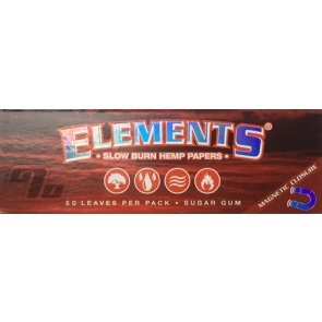 Elements Red Hemp Rolling Papers 1 1/4 Slow Burn