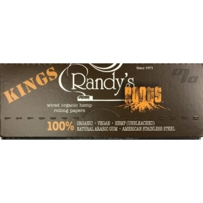 Randy's Roots Hemp Wired Rolling Papers in King Size
