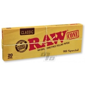 RAW 98 Special Cones 20 Pack
