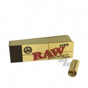 RAW Unbleached Filter Tips Box/50