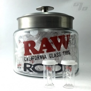 RAW + Roor Slim Glass Filter w/ Flat Tip