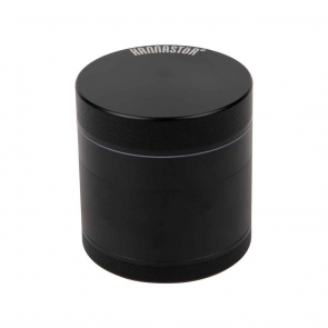 Kannastor 2.2in 4 piece herb grinder Black
