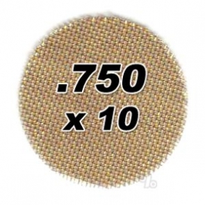 10 pack .750 Brass Pipe Screens 2