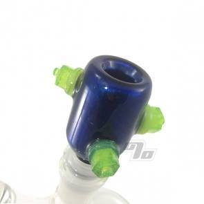 Zach P Blue Velvet Slime Nut Slide 14mm