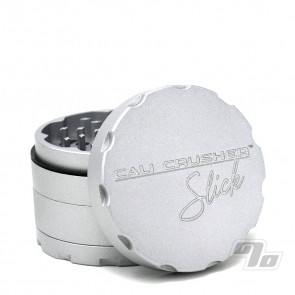 Cali Crusher OG Slick 4 Piece 2.5 inch Herb Grinder in Silver