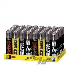 Wholesale tray of Clipper Lighters Funny Sayings