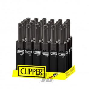 Clipper Mini Tube Soft Black Lighter on wholesale Tray of 24