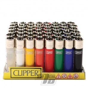Clipper Lighters Assorted colors wholesale tray of 48 lighters
