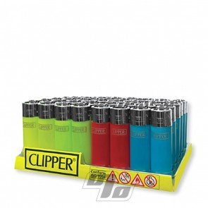 Clipper Lighter Short Translucent colors in full Tray of 48 lighters