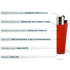 Clipper Lighter Solid Colors Tray of 48