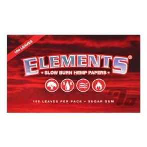 Elements Red Hemp Rolling Papers Single Wide pack