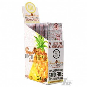 High Hemp Organic Pineapple Hemp Blunt Wraps