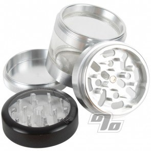 Kannastor Clear Top 2.2in Jar/Grinder/Sifter 4pc