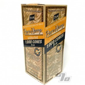 Pure Hemp Unbleached 1 1/4 Cones 1000 Bulk Pack