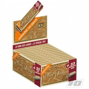 Pure Hemp Unbleached King Size Rolling Papers w/Filters