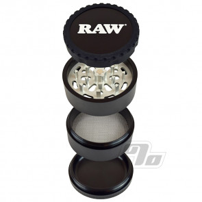 RAW Life 4-Piece Grinder in Black