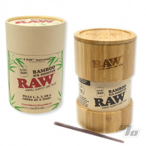 RAW Bamboo Six Shooter Cone Filler for filling 1 1/4 sized RAW Cones