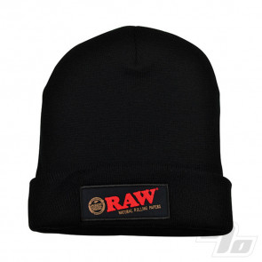 RAW Beanie Hat in Black