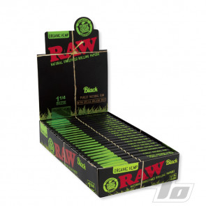RAW Black Organic Hemp 1 1/4 Rolling Papers