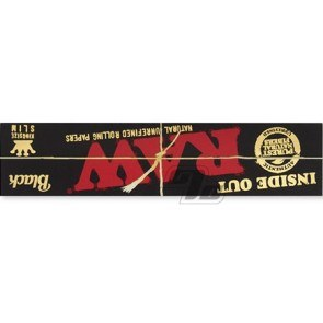 Buy RAW Black Inside Out KS Slim Rolling Papers
