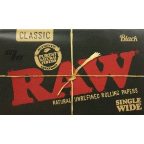 RAW Black Rolling Papers single wide size