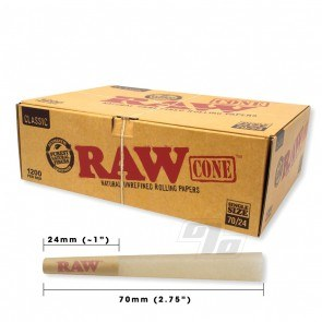 RAW Classic SW Cones 70/24 1200 Cone Bulk Pack