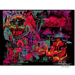 RAW x GhostShrimp BlackLight Poster