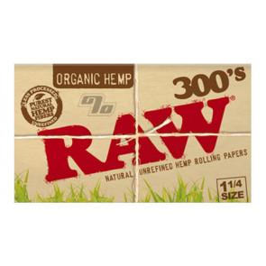 RAW Organic Hemp 300s 1 1/4 Rolling Papers