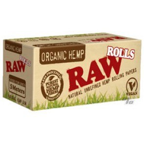 RAW Organic Hemp 1 1/4 Rolling Paper On A Roll
