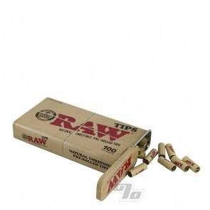 RAW 100 Pre-Rolled Tips in RAW Tin