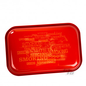 Smoking Papers Red Rolling Tray Small