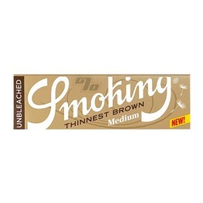 Smoking Thinnest Brown 1 1/4 Rolling Papers are thin and unbleached