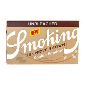 Smoking Thinnest Brown SW Rolling Papers with the Double Window pack