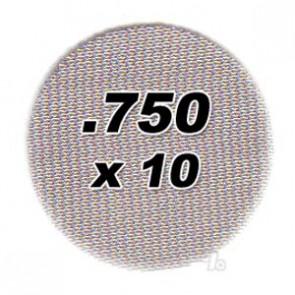 10 pack .750 Steel Pipe Screens 2