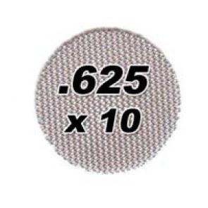 10 pack .625 Steel Pipe Screens