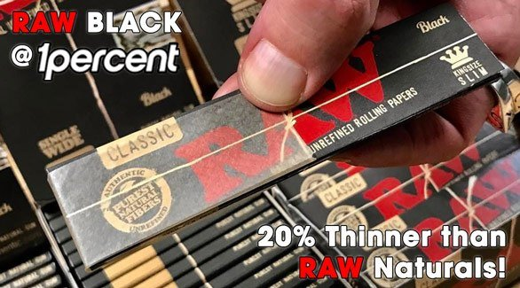 Black RAW Rolling Papers